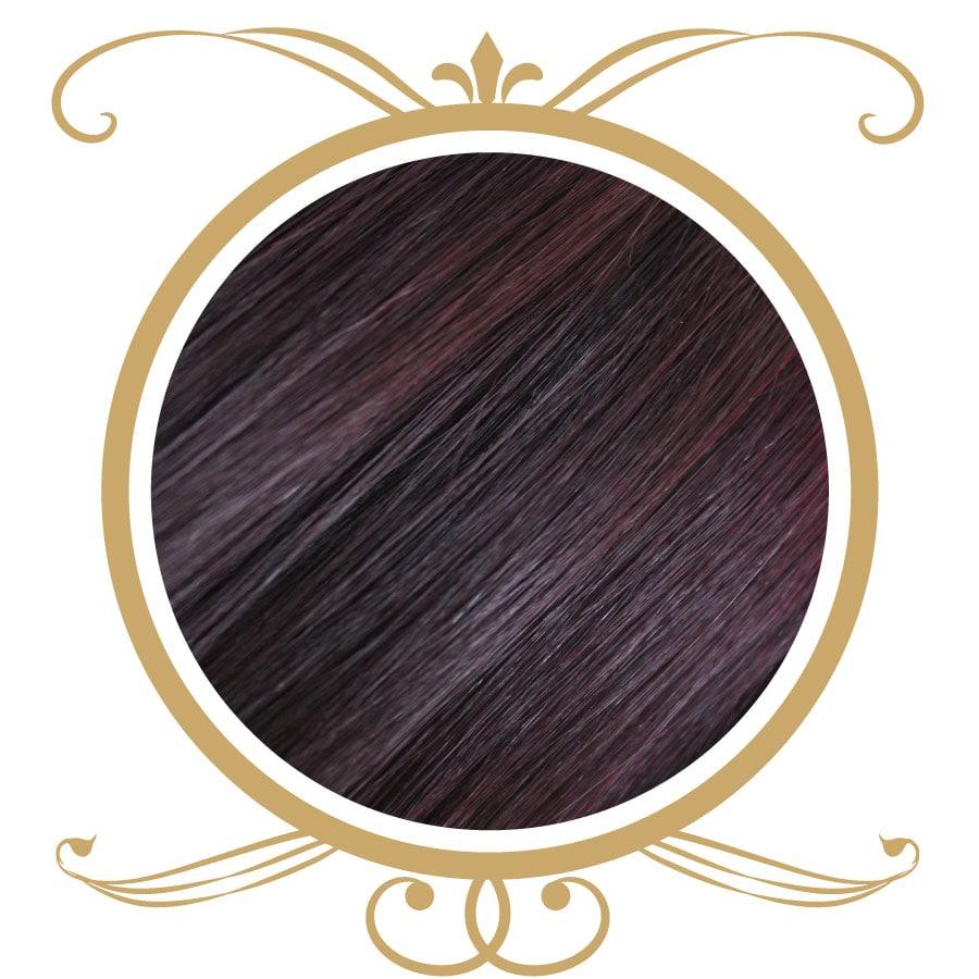 extensii par roscat violet