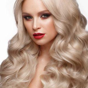 extensii blond platinat cheratina