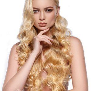 extensii blond auriu cheratina