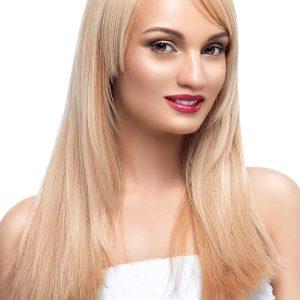 extensii blonde auriu microring