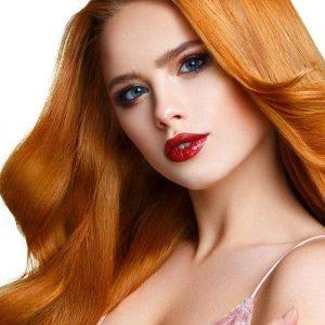 extensii blond copper cheratina