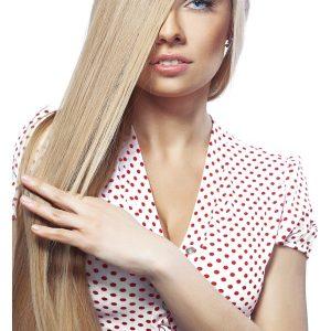 extensii blond mediu cenusiu cheratina